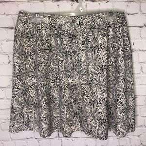 Maurices Black And White Print Skirt